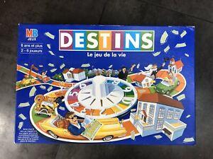 Jeu de société Destins Bleu - Le jeu de la vie - MB Jeux - Vintage Année 90