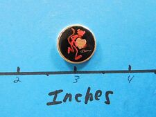 PINK PANTHER BLACK BACK GOLD WITH LOVE HEART 25TH ANNIVER MINI 999 SILVER COIN