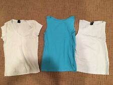 GAP Women's Blue, Light Green S/S & Sleeveless LOT Of 3 Tank Tops EUC Sz Small