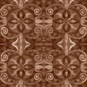 """Brown Baroque 108"""" digital fabric by Blank, 9777-39, cotton"""