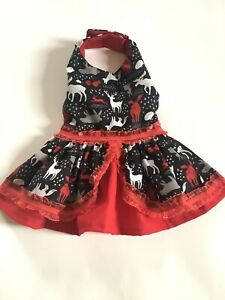 handmade Christmas Dog Dress  Size medium