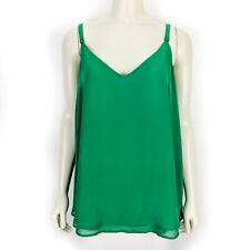 Torrid Green Double Layer Chiffon Swing Cami Sleeveless Blouse Top Womens Size 1