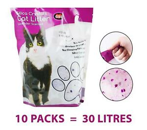 Cat Litter 30 Litres Lavender Fragrance Crystals Non Clumping Long Lasting Pet