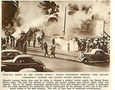 1946 Teargas To Disperse Strikers Picket Outside United States Motors Plant