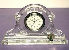 "Waterford Devenish Crystal Clock 6"" W Made in Ireland New in Box"