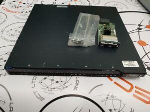 Juniper EX4200-24F 24-port 1000BaseX  SFP Switch with dual AC PSU, EX-UM-2X4SFP