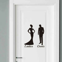 Toilet Door Stick Man/Women Wall Stickers Vinyl Decals Decoration Sign Art MP