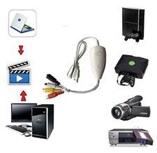 USB Video Audio Capture Recorder Adapter Card V8/Vi8 VHS to DVD Converter TV DVR