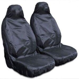 HYUNDAI i10 i20 - EXTRA Heavy Duty Black Waterproof Car Seat Covers - 2 x Fronts