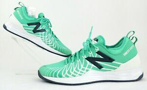 NEW! New Balance Fresh Foam Lav Tennis Specific Shoes Emerald/White 12(2E) Wide