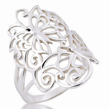 LOVELY BUTTERFLY RING 925 STERLING SILVER  .US=6.5 UK=M
