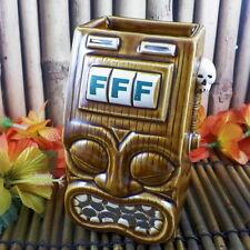 Frankie's Tiki Room Tiki Bandit Mug Slot Machine Squid Las Vegas Swizzle Nevada