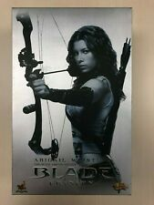 Hot Toys MMS 128 Blade Trinity Abigail Whistler Jessica Biel 12 inch Figure USED