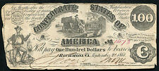 T-13 1861 $100 One Hundred Dollars Csa Confederate States Of America