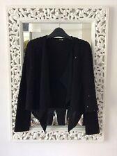 TFNC Black Boucle Sequin Crop Jacket Drape Front, UK Size 10 Immaculate