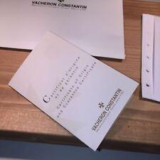 Vacheron Constantin Certificate of Origin and guarantee certificate