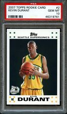 2007 TOPPS ROOKIE CARD #2 KEVIN DURANT SUPERSONICS NETS RC GEM MINT PSA 10 !