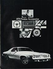 1974 Pontiac ACC's Brochure:GRAND AM,LeMANS,FIREBIRD,Trans-Am,VILLE,CATALINA,GTO