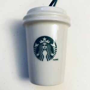 2011 STARBUCKS ORNAMENT- White Coffee Cup with Logo, Holiday, Christmas!!!!