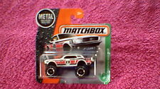 Matchbox (UK Card) - 2017 - #124 '68 Ford Mustang 4x4 - White, Red, Black & Blue