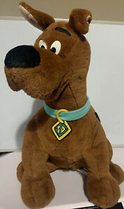 """Scooby Doo Talking Interactive Room Guard Thinkway Plush 15"""" Toy 1998 - WORKING"""