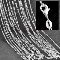 "2mm Women Men 16-30"" Stainless Steel Figaro Link Curb Chain Necklace Jewelry"