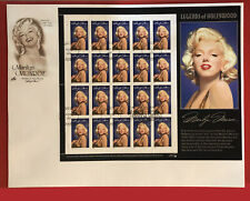 1995 United States 2967 FDC - full sheet - Legends of Hollywood - Marilyn Monroe