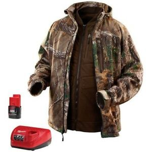 MILWAUKEE 2387-L 3 in 1 Heated Vest and CAMO Work Farm Jacket! w/Batt&Charger!