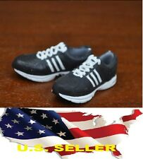 1/6 KUMIK women shoes Adidas style Black running sneaker phicen ❶❶US seller❶❶