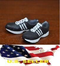 1/6 KUMIK women shoes Adidas style Black running sneaker phicen ❶❶US seller❶❶