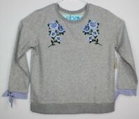 St. John's Bay Women's Gray Sweater Size XL Classic Long Sleeve Crew Neck NWT