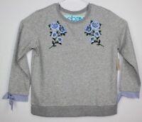 St. John's Bay Women's Gray Sweater Size XL Classic Long Sleeve Crew Neck NWT