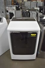 "Samsung Dvg54M8750W 27"" White Front-Load Gas Dryer Nob #50736 Hrt"