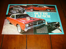 1968 DODGE DART HEMI SUPERCHARGED  ***ORIGINAL 1982 ARTICLE***