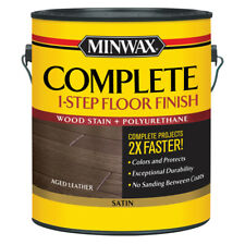 Minwax  Complete  Satin  Aged Leather  Water-Based  Wood Floor Stain  1 gal.