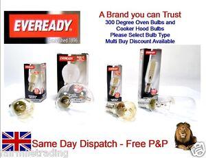 Eveready Branded Oven Lamp Cooker Hood Light Bulb 240v SES E14 300° 15w 25w 40w