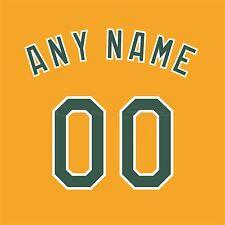 Béisbol Oakland Athletics oro Jersey número Personalizado Kit sin costura