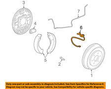 GM OEM Rear Brake-Hydraulic Flex Hose 19366712