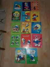 14 Vintage Smurf Folders from Mead Wallace Berrie Co