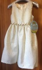 Ivory & Gold Girl Bridesmaid Party Occasion Dress CINDERELLA Princess Range New