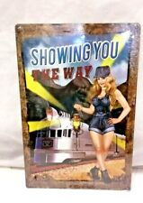 """18"""" Sexy pin up Train Show you the way light up all night Steel Sign Wall Decor"""
