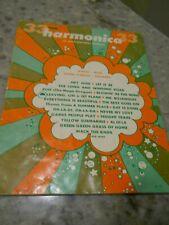 Harmonica Sheet Music Song Book 33 Tunes 60'S Era Words Music Diagrams Chords