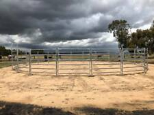 Horse Round Yard panel inc gate Livestock Cattle Sheep Oval Rail holding yard