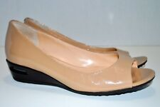 Cole Haan NIKEAIR Tan Brown Leather Open Peep Toe Heel Size 6B D40470