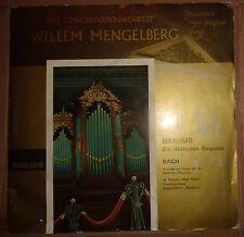 MENGELBERG - BRAHMS: EIN DEUTSCHES REQUIEM / BACH: MATTHAUS-PASSION .. 2 LP Set