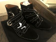 GIVENCHYAnkle Boots Size 39 UK 6 US 9 Studded Buckles Closure, Worn Once