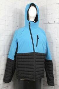 686 GLCR Hydra Down Insulator Snowboard Jacket Mens Large Bluebird Blue / Black