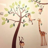 Monkey Tree Jungle Kids Nursery Wall Art Stickers, Wall Decals, Wall Graphics