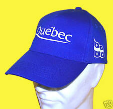 QUEBEC: CASQUETTE bleu ROY QUEBEC & DRAPEAU QUEBECOIS -