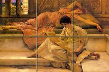 Lawrence Alma Tadema Mural Ceramic Tiles Decor Backsplash Tile #294